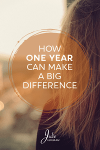 How One Year Can Make A Big Difference