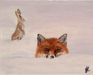 Sneaking Up   Oil on Canvas by Julie Lovelock