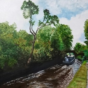Canal Trip   Oil on Canvas by Julie Lovelock