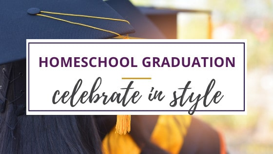 homeschool graduation ideas with cap and gown