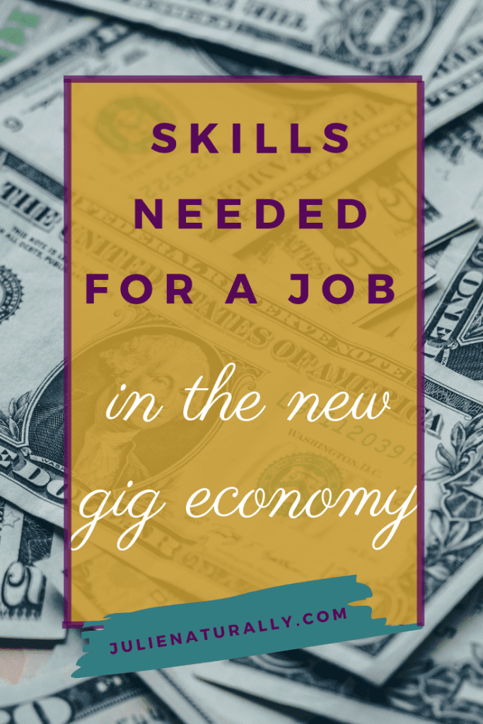 piles of US dollar bills paid to someone who has the skills needed for a job in the new gig economy
