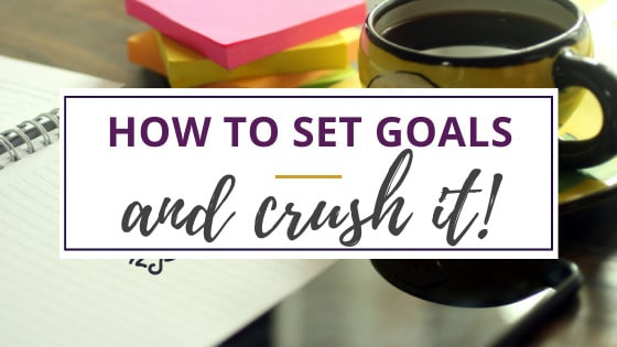 how to set goals with paper and colorful sticky notes