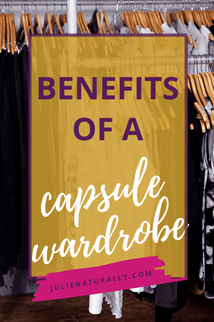 a capsule wardrobe of black and white clothing