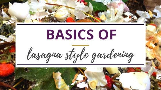using kitchen scraps in lasagna style gardening