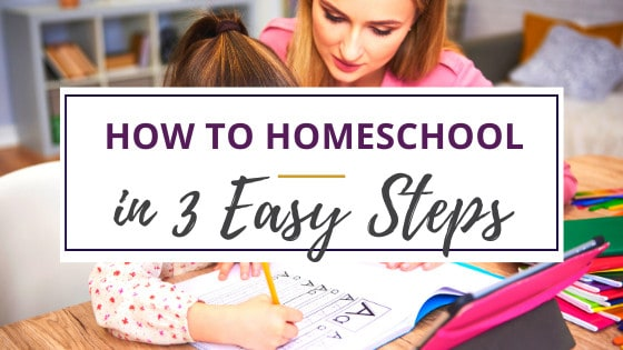 mom and daughter at kitchen table learning how to start homeschooling