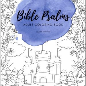 Bible Psalms Adult Coloring Book PRINT