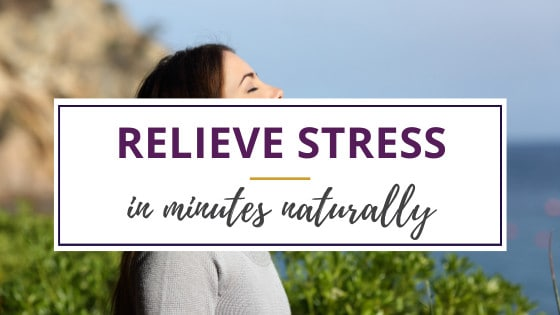 woman learning to relieve stress with deep breathing