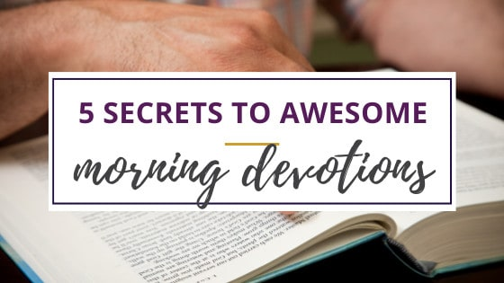 woman with open bible doing morning devotions