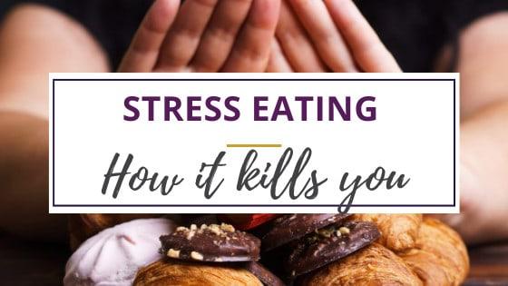 woman pushing away junk food she likes when stress eating