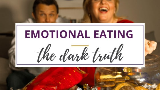 man and woman eating junk food because of emotional eating