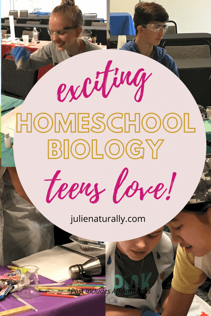 students doing homeschool biology at a live lab experience