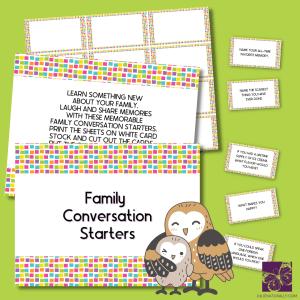 Family Conversation Starter Cards Set