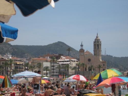 Journée de plage à Sitges.