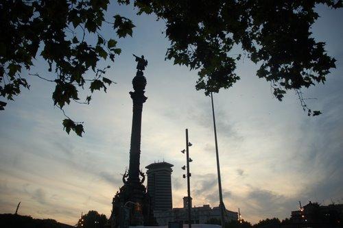 Statue de Colomb au bout de Las Ramblas