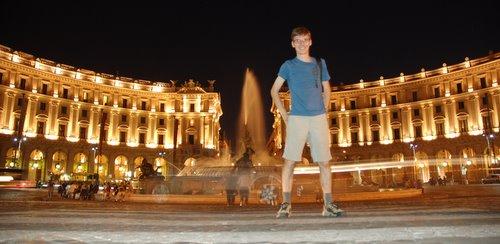 Autoportrait sur Piazza della Repubblica