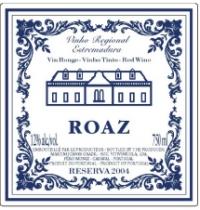 Vinho Regional Estremadaura Roaz Reserva 2006