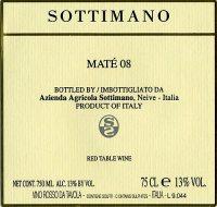 Sottimano Maté 2008