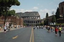 Via dei Fori Imperiali et le Colisée