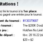 Je participerai au $200K double deuce sur Full Tilt Poker