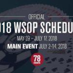 World Series of Poker 2018 : demandez le programme !