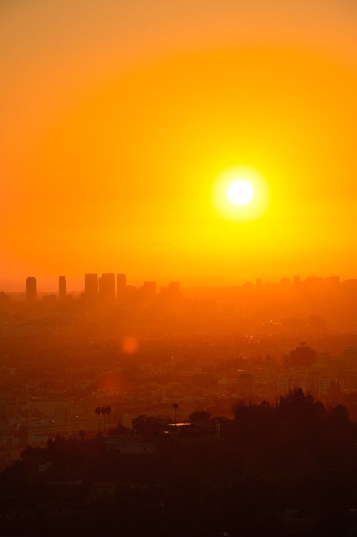 sunset on Los Angeles