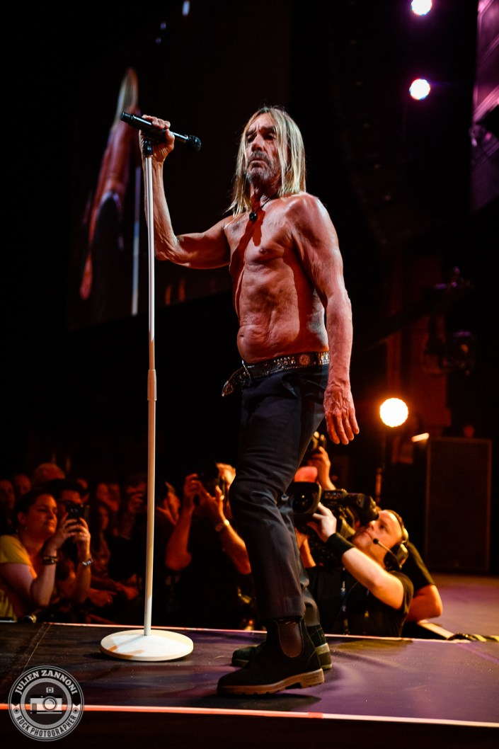 Iggy Pop play at the Montreux Jazz Festival 2018