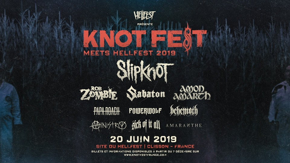 Affiche Knotfest France 2019