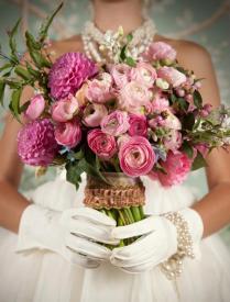 Las Vegas Vintage Glam wedding bouquet