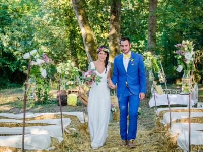 Mariage champêtre coloré Domaine St Michel Giroussens