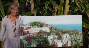 ©Julie Schofield, Island Coast Colours, Acrylic 122 x 61cm