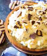 Cookie Salad Recipe in Brown Bowl