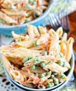 Bacon Ranch Pasta Salad in Bowl