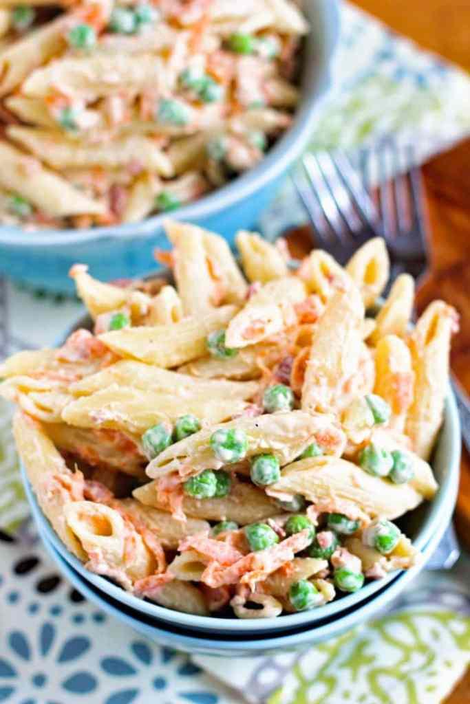 Bacon Ranch Pasta Salad in Bowl