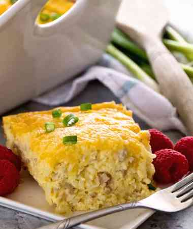 Sausage & Cheese Hash Brown Breakfast Casserole