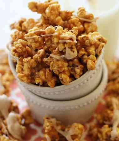 Cinnamon Bun Popcorn ~ Easy, Caramel Corn Spiced with Cinnamon! Perfect Sweet Treat!