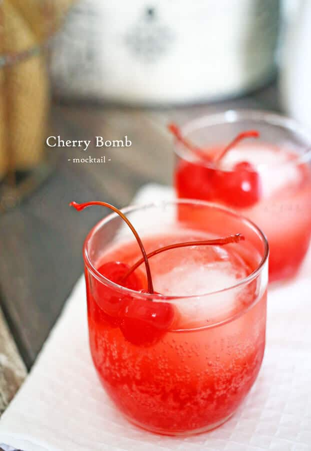 Cherry Bomb Drink in glass