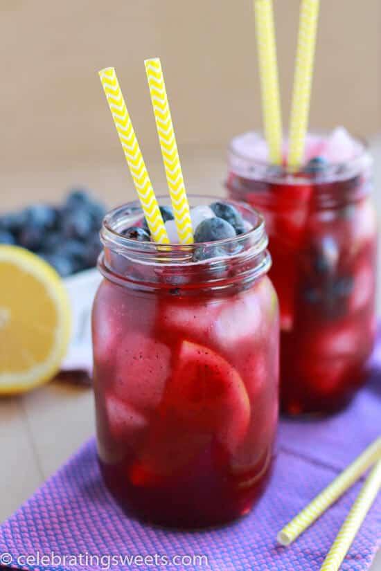 Blueberry Lemonade in Jar