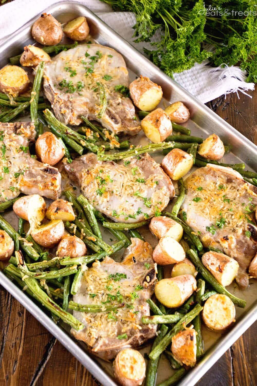One-Pan Pork Chop Veggie Dinner