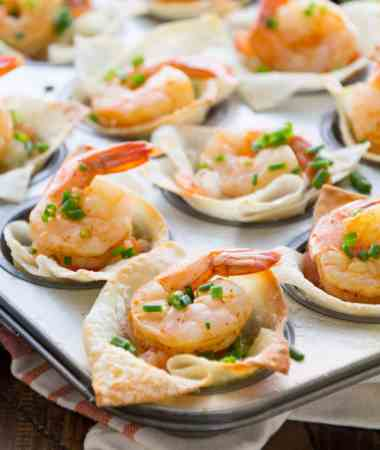 Light Tex Mex Shrimp Wonton Cups Recipe + VIDEO