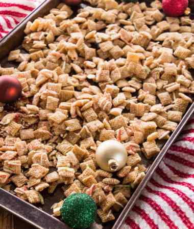 Sugar Cookie Chex Mix Recipe ~ Celebrate the Holidays with this Fast and Easy Snack Mix Recipe that tastes just like Sugar Cookies!