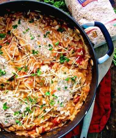 Light Italian One Pot Salmon & Orzo Recipe
