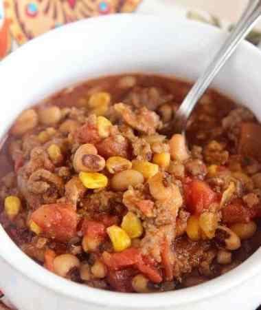 Sausage & Black Eyed Pea Chili