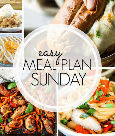 Easy Meal Plan Sunday {Week 95}