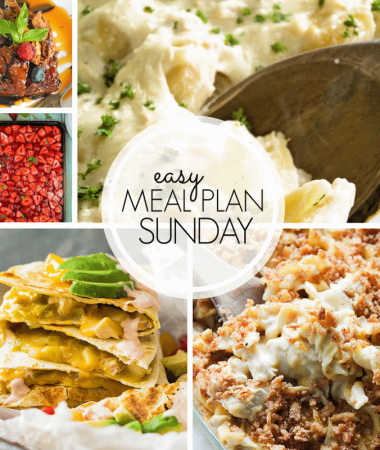 Easy Meal Plan Sunday {Week 104}