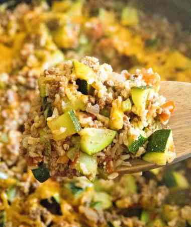 Hamburger and Zucchini Skillet