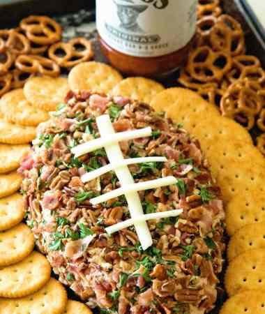 BBQ Bacon Ranch Football Cheese Ball
