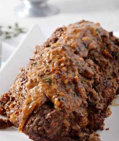 French Onion {Instant Pot} Pressure Cooker Meatloaf
