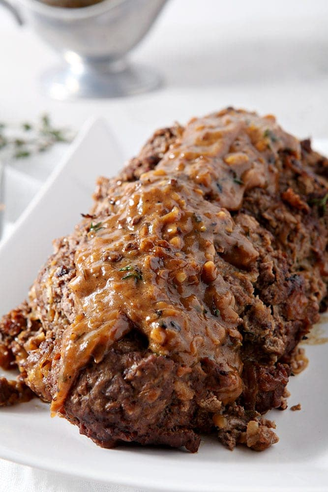 Electric Pressure Cooker Instant Pot French Onion Meatloaf