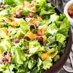 Lettuce Frito Salad Overhead