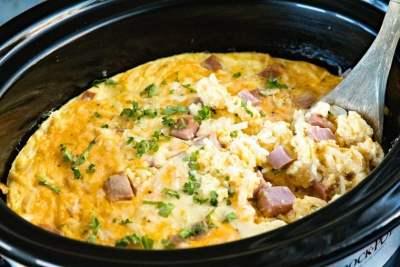 Crock Pot with Breakfast Casserole